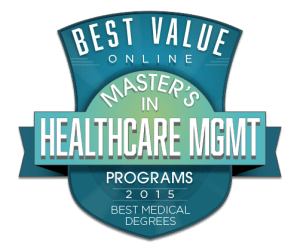 Best Value Online Master's in Healthcare Management & Administration Programs 2015